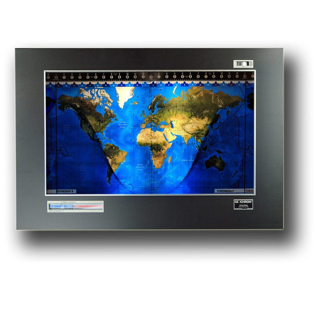 A Geochron Anodized, with Black finish, Silver trim, and a Premium Topographical mapset.